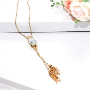 Vintage House Pendant Tassel Necklace Pat 3974545